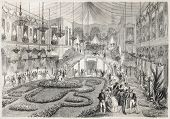 Napoleon III and Empress Eugenie at Grand Bal in Lyon city hall. Created by Steyert, published on L'