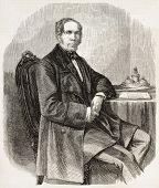 Jean Baptiste Louis Gros alten gravierte Portrait, französischer Daguerrotypist und Diplomat. erstellt von marc
