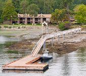 Oceanview condo on island in Vancouver, Canada.