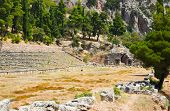 stock photo of olympic stadium construction  - Ruins of stadium in Delphi Greece  - JPG
