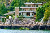 Luxury waterfront house in Vancouver, Canada.