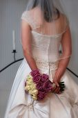 Bridal Bouquet Behind Back