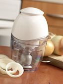 picture of kitchen appliance  - A white blender on the table - JPG