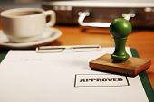 business concept of the process of loan approved