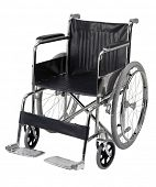 wheelchair isolated on white background. clipping path included