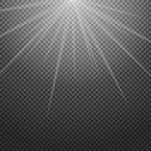 Shiny sunburst of sunbeams on the abstract sunshine background and transparency.  illustration. poster