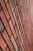 Diagonal brick wall background