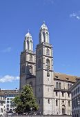 Famous Grossmunster church in Zurich, Switzerland