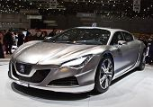 GENEVA - MARCH 7 : Peugeot RC4 concept hybrid car on display at 79th International Motor Show Palexp
