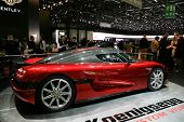 GENEVA - MARCH 7 : Koenigsegg racing car on display at 79th International Motor Show Palexpo-Geneva