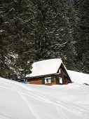 Skiing in swiss alps (Elm, Switzerland)