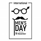 Elegant Mens Day Icon. Simple Illustration Of Elegant Mens Day Icon For Web Design Isolated On White poster