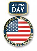 Veterans Day Medal Icon Logo. Realistic Illustration Of Veterans Day Medal Icon Logo For Web Design  poster