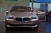 GENEVA - MARCH 7: New BMW 5 on display at the 79th International Motor Show Palexpo-Geneva on March