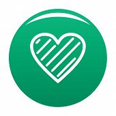 Simple Heart Icon. Simple Illustration Of Simple Heart Icon For Any Design Green poster