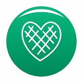 Impressionable Heart Icon. Simple Illustration Of Impressionable Heart Icon For Any Design Green poster