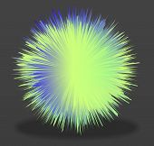 Ball With The Effect Of Fur. Shaggy Ball. Colorful Cartoon Fluffy Pompon. Fur Ball. poster