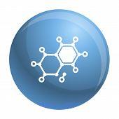 Chemical Element Molecule Icon. Simple Illustration Of Chemical Element Molecule Vector Icon For Web poster