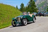SCHWAEGALP - JUNE 27: Old MG racing car on the 7th International