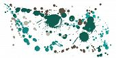 Paint Stains Grunge Background Vector. Hand Drawn Ink Splatter, Spray Blots, Mud Spot Elements, Wall poster