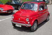 SCHWAEGALP - JUNE 27: Fiat 500 (on the 7th International