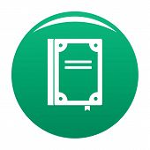 Book Publication Icon. Simple Illustration Of Book Publication Vector Icon For Any Design Green poster