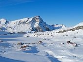 Winter in the swiss alps (Melchsee-Frutt, Luzern, Switzerland)