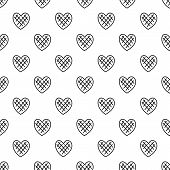 Impressionable Heart Pattern Seamless Vector Repeat Geometric For Any Web Design poster