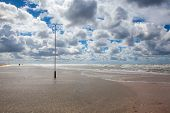 On The Amazing Lakolk Beach After Heavy Rain. This Beach Is  Beach After Heavy Rain, Jutland, Denmar poster