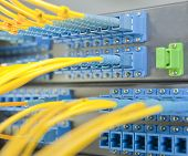 communication and internet network server room