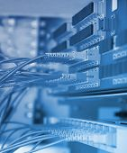 foto of raid  - communication and internet network server room - JPG