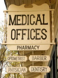 stock photo of medical office  - medical offices sign - JPG