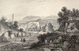 foto of luigi  - Antique illustration of Pompei theater - JPG