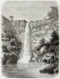 pic of rebs  - Old illustration of Reb river falls - JPG