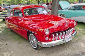 Cherry Red 1950 Merc