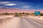 entrance road to San Pedro de Atacama, desert Atacama, Chile