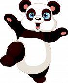 Cute Panda doen martial art