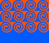 Blue spiral for advertising and graphics