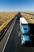 stock photo of 18 wheeler  - truck highway  - JPG