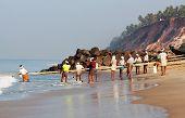 Fishermen in Kerala state, South India