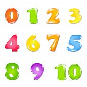 Number Set, Isolated On White Background