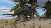 spinosaurus on sand