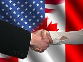 American Canadian Handshake