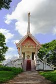 foto of crematory  - The cremation for buddhist in the countryside of Thailand - JPG