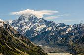 Mount Cook With Cloud At The Summit, New Zealand