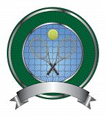 Tennis Design Template Burst