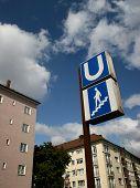 German Underground (Metro/U-Bahn) Sign