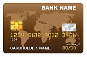 Illustration of a plastic credit card.