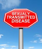image of genital  - Illustration depicting a sign with a sexually transmitted disease concept - JPG