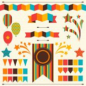pic of confetti  - Collection of decorative elements for holiday - JPG